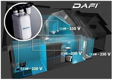 chauffe eau dafi 7 5 kw h triphas achat vente dafi daf75t. Black Bedroom Furniture Sets. Home Design Ideas