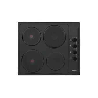 Table électrique 4 foyers 60 cm émaillée noire GLEM - GTL640BK