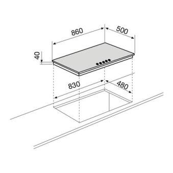 Table gaz 5 foyers 90 cm inox GLEM - GT955IX