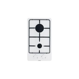 Domino gaz émaillé blanc GLEM - GT32WH
