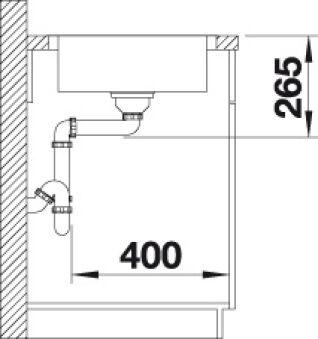 EVIER BLANCO LANTOS 45 S-IF COMPACT INOX AUTO