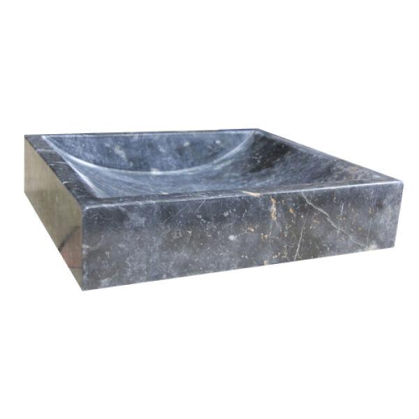vasques pierre vasque en pierre rectangulaire 40 45 10 cm noir achat vente ondyna uc3007. Black Bedroom Furniture Sets. Home Design Ideas