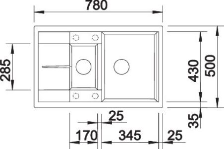 BLANCO METRA 6S COMPACT PDUR ANTHRACITE AUTO
