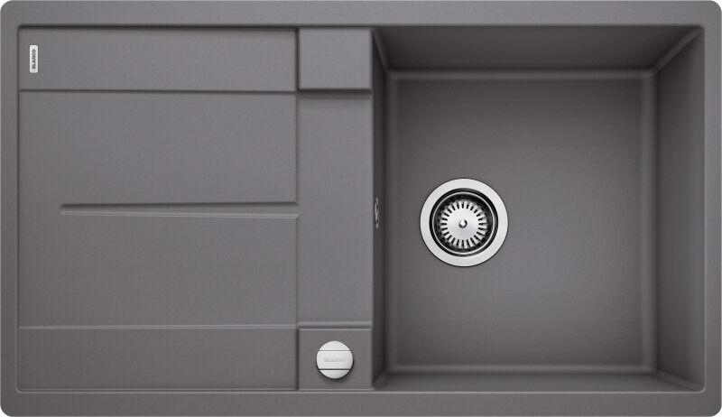 Eviers encastrer evier blancometra 5s f granit gris rocher achat vente blanco 519102 - Ecoulement evier cuisine ...