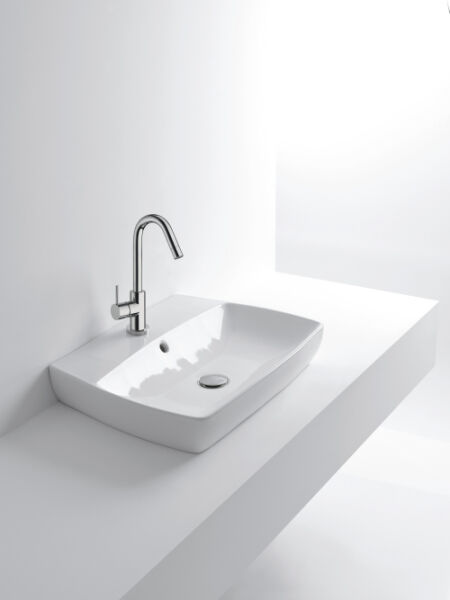 Vasques c ramique lavabo ceramique h10 60x43x10 cm a for Lavabo ceramique ou porcelaine
