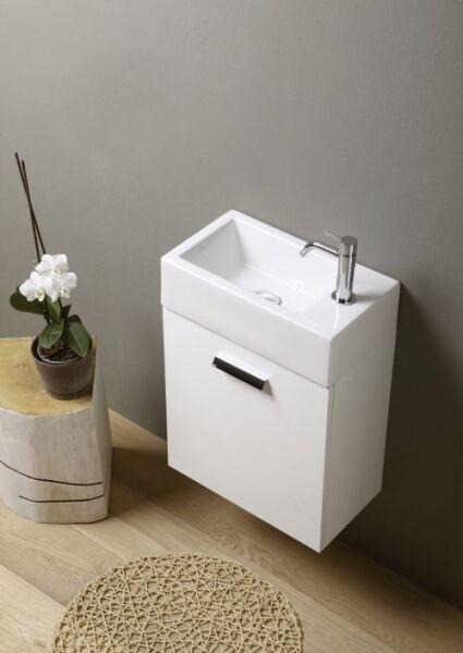 Meubles meuble lave mains mini 25 45 60 cm beige toile for Lave mains meuble