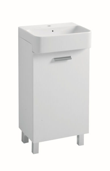 meubles meuble petit lavabo 45 35 60 cm ouverture droite blanc structure achat vente ondyna. Black Bedroom Furniture Sets. Home Design Ideas