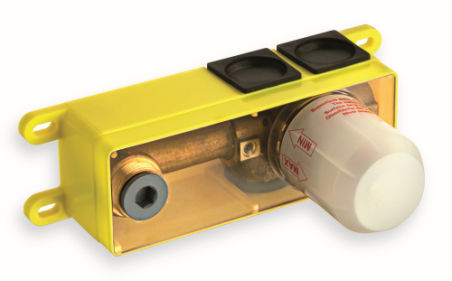 Encastres, mecanisme box pour lavabo mural poignee a droite - INOX
