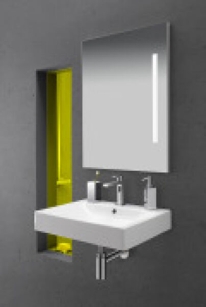 lavabo ceramique cento a poser ou suspendre 60 45 cm blanc. Black Bedroom Furniture Sets. Home Design Ideas