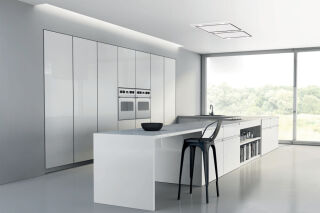Hotte de plafond Silverline Zafire 100 cm inox (sans moteur)