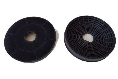 2 filtres à charbon ronds pour hotte Silverline - KF001