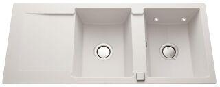 LUISINA - Luisigranit - Epure LEDS - Evier à encastrer Luisina 2 bacs avec Leds, 1 égouttoir coloris