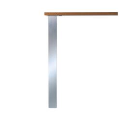 LUISINA - Pied de table carré en acier aspect inox H 820 mm - 60 x 60 mm