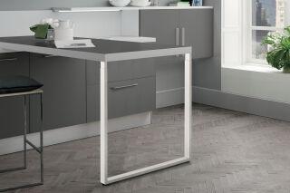 LUISINA - Steeve - Pied de table rectangulaire télescopique en acier coloris blanc H 720 mm