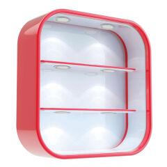 LUISINA - Helios - Spot LED 2,8W à poser coloris Aluminium, avec interrupteur tactile