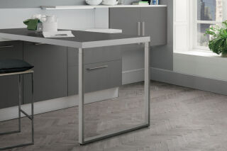 LUISINA - Steeve - Pied de table rectangulaire télescopique en acier chromé H 870 mm