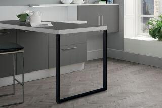 LUISINA - Steeve - Pied de table rectangulaire télescopique en acier coloris noir H 900 mm