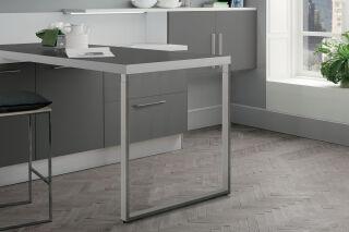 LUISINA - Steeve - Pied de table rectangulaire télescopique en acier chromé H 720 mm