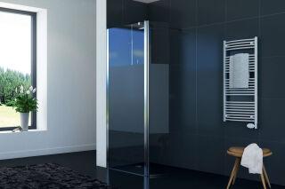 LUISINA - Easyflex+30 - Paroi de douche fixe sablée Easyflex 300 mm et volet flexible 300 mm