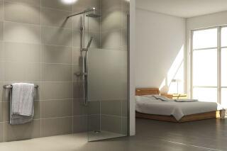 LUISINA - Easy - Paroi de douche fixe sablée Easy 1100 mm