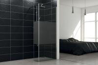 LUISINA - Easy+30 - Paroi de douche fixe sablée Easy 700 mm et volet fixe 300 mm