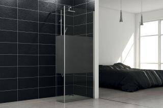 LUISINA - Easy+30 - Paroi de douche fixe sablée Easy 450 mm et volet fixe 300 mm