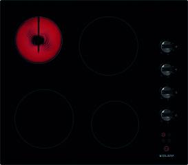 Tables vitrocéramique Glem GTH64M Verre noir