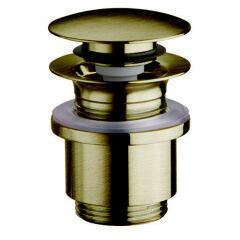 Bonde up&down lavabo sans trop plein 25-49 mm vieux bronze VIDAGES - BUP0292