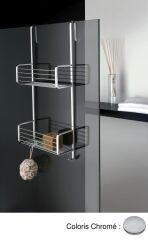 Porte savon double a panier a accrocher en laiton grand hotel chrome ACCESSOIRES - GH15951