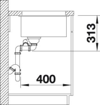 EVIER BLANCO SUBLINE 340/160-U PDUR ALUMETALLIC GDCGAU MANU INF