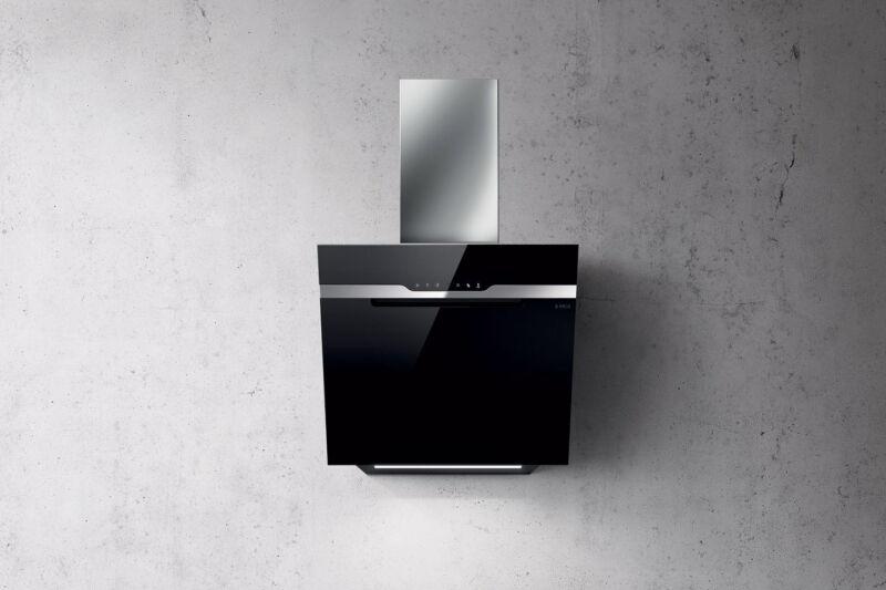 elica majestic hotte murale elica majestic 60 cm coloris inox et verre noir achat vente. Black Bedroom Furniture Sets. Home Design Ideas