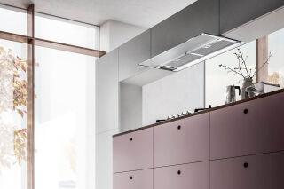 Elica - Glass Out - Hotte encastrable Elica Glass Out 90 cm coloris Inox et Verre