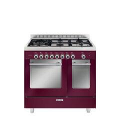 Cuisinière double four mixte catalyse 90 x 60 cm rouge rubis GLEM - GXD96CVBR