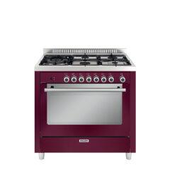 Cuisinière mixte catalyse 90 x 60 cm rouge rubis GLEM - GX960CVBR