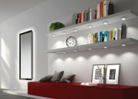 LUISINA - Mino - Kit Mino - 3 spots à poser + embase en coloris Aluminium + câblage + convertisseur