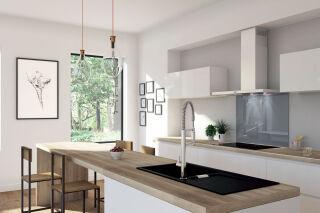 LUISINA - Fonds de hotte en verre - Fond de hotte Luisigloss 900 x 500 mm coloris Gris fenêtre