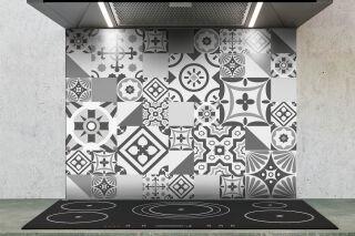 LUISINA - Fonds de hotte Aluminium Composite - Fond de hotte Aluminium 900 x 700 mm K'ro style gris