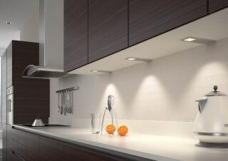 LUISINA - Larry - Kit Larry - 3 spots à poser coloris Aluminium + câblage + convertisseur