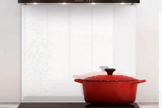 LUISINA - Fonds de hotte Luisiglass - Fond de hotte Luisiglass Premium 900 x 700 mm Blanc neige