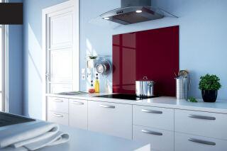 LUISINA - Fonds de hotte en verre - Fond de hotte Luisigloss 900 x 500 mm coloris Noir