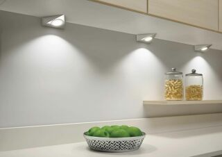 LUISINA - Toby - Kit Toby - 3 spots coloris Inox + câblage + convertisseur