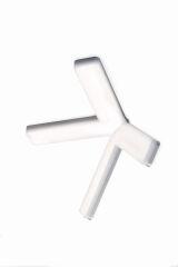 LUISINA - Cross - Spot LED 10W à poser coloris Chrome sans interrupteur