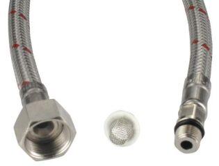 Flexible d'alimentation rouge avec joint/tamis 65 cm M10x1 BL (NF)