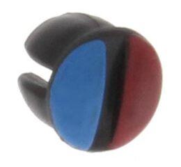 Cache vis de levier bleu/rouge HA