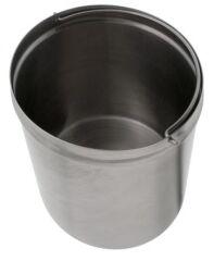 Poubelle SELECT SOLON 7 litres acier inoxydable, Acier inoxydable, Acier inoxydable