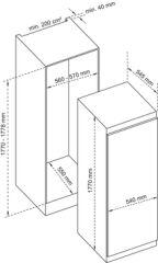 1 porte tout utile niche 177 cm AIRLUX - ARITU177