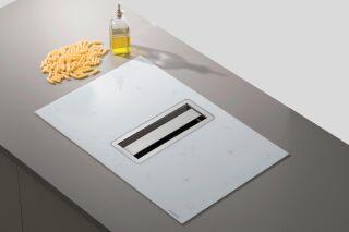 Silverline - Flow Max - Hotte plan de travail Silverline Flow Max 78 cm coloris Blanc et plaque inox