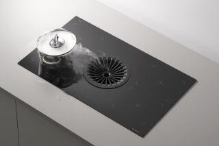 Silverline - Supreme - Hotte plan de travail Silverline Supreme 88 cm coloris Noir et grille noire