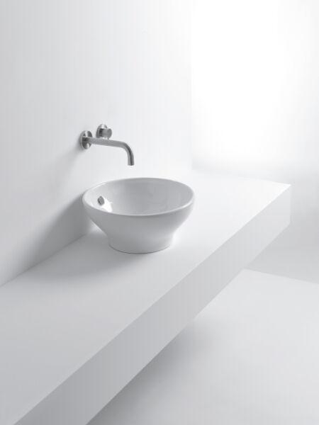 Lavabo ceramique cup l42xp42xh19 cm blanc brillant achat for Achat lavabo