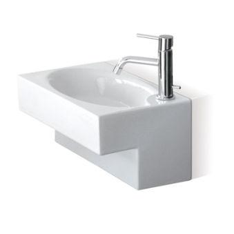 Lave-mains ceramique deca l44xp25xh20 cm blanc brillant*